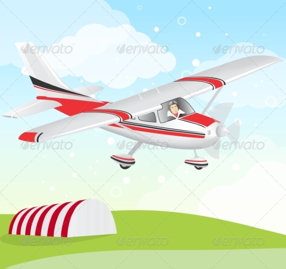 GraphicRiver Plane with Pilot 8336809