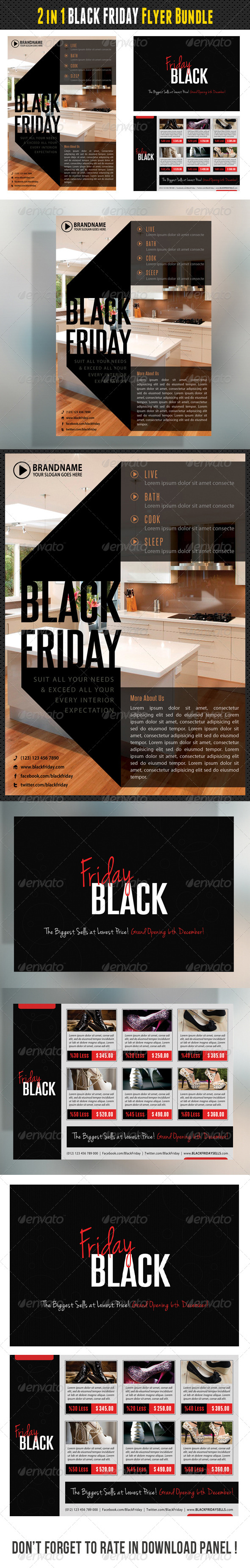 GraphicRiver 2 in 1 Black Friday Flyers Bundle 01 8336812