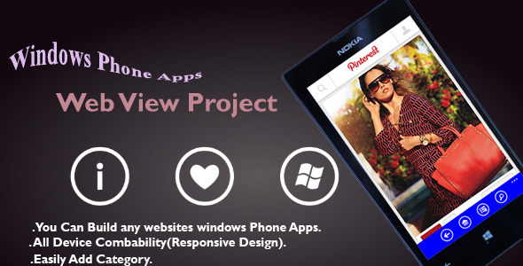 CodeCanyon Windows Phone Apps Web view Project 8336816