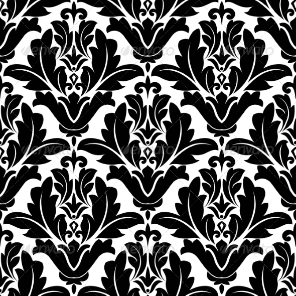 GraphicRiver Damask Seamless Floral Pattern 8337141