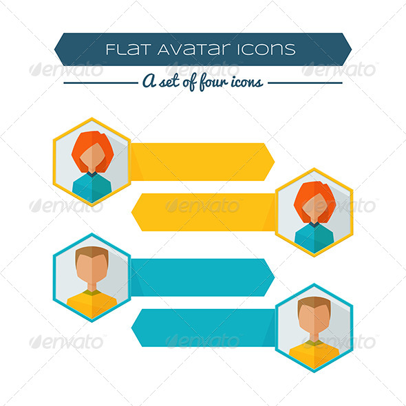 GraphicRiver Flat Avatar Banners 8337166