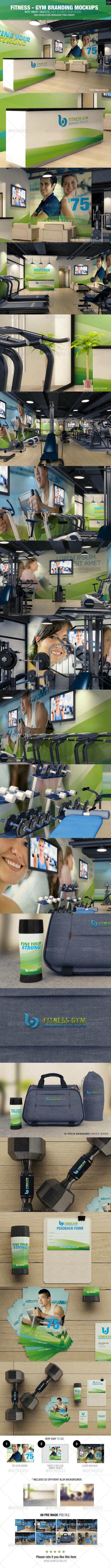 GraphicRiver Fitness Gym Branding Mockups 8329238