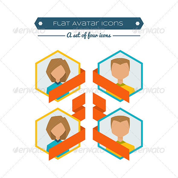 GraphicRiver Flat Avatars 8337172