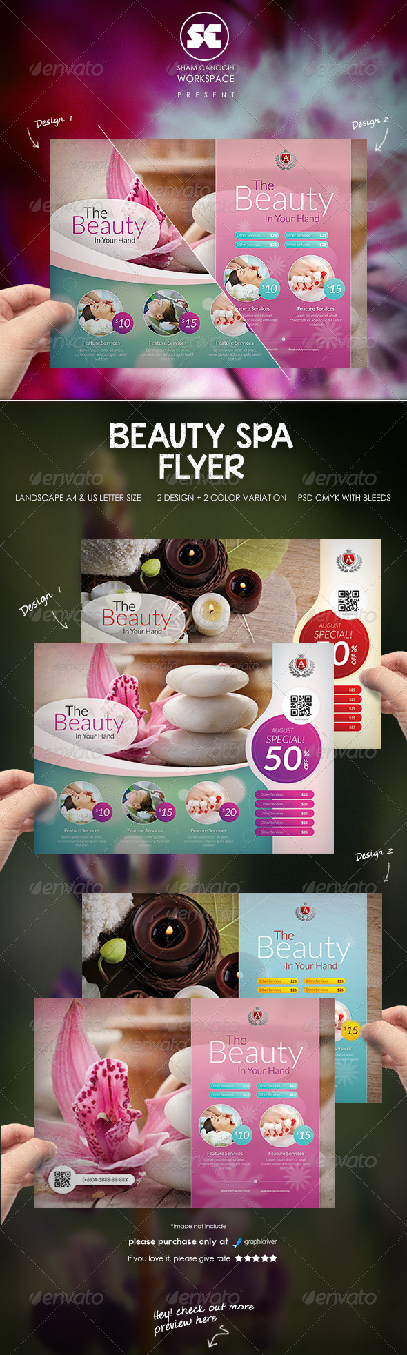 GraphicRiver Beauty Spa Flyer 8337186