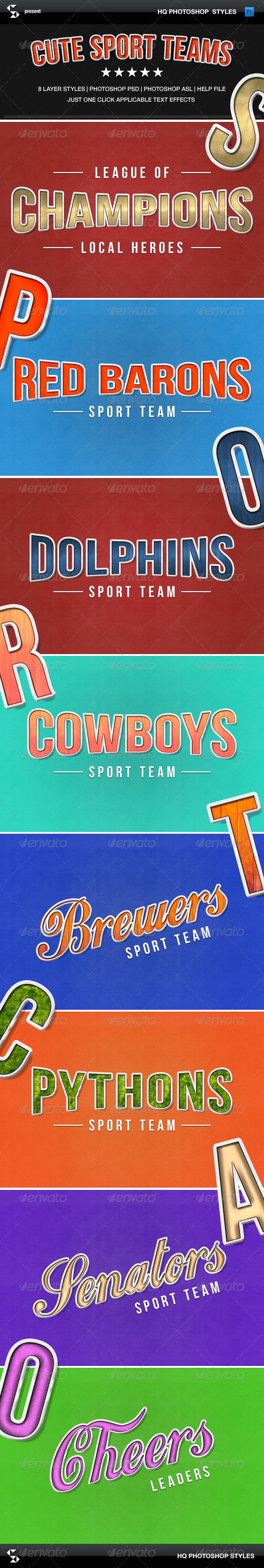 GraphicRiver Sport Teams Text Styles 8337206