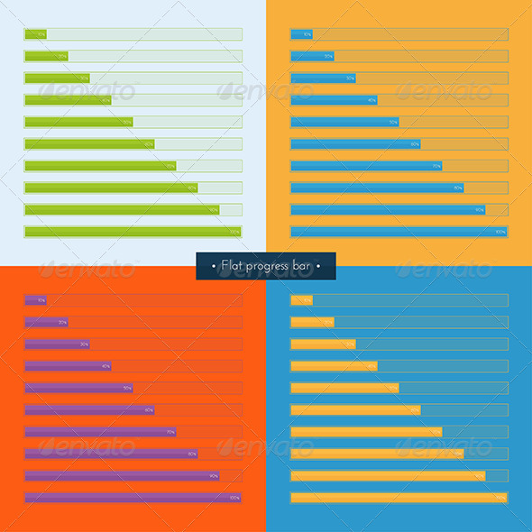 GraphicRiver Set Flat Progress Bar 8337337