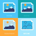 Flat icons - different image formats - PhotoDune Item for Sale