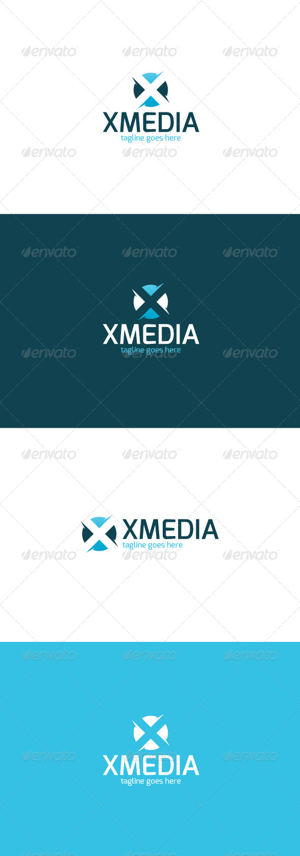 GraphicRiver X Media Logo Letter X 8337437