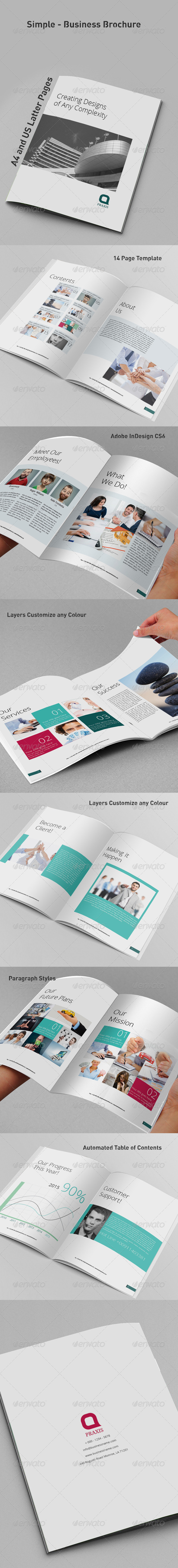 GraphicRiver Simple Business Brochure 8337534