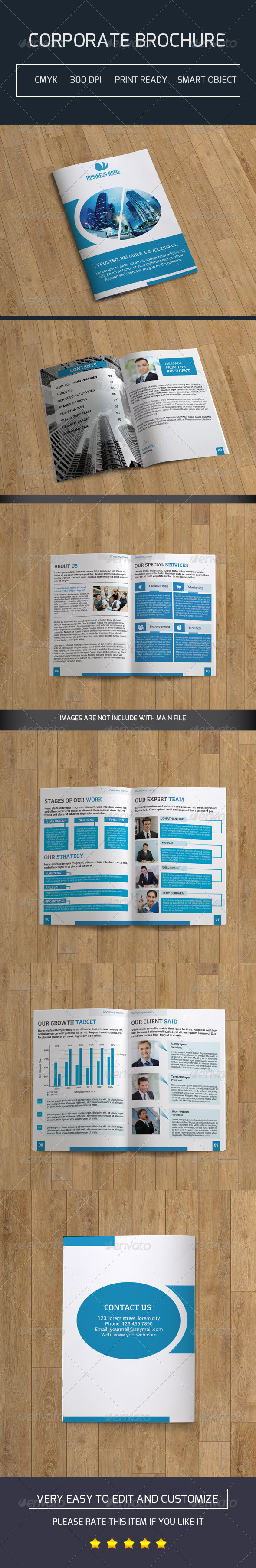 GraphicRiver Bifold Business Brochure-V99 8337535
