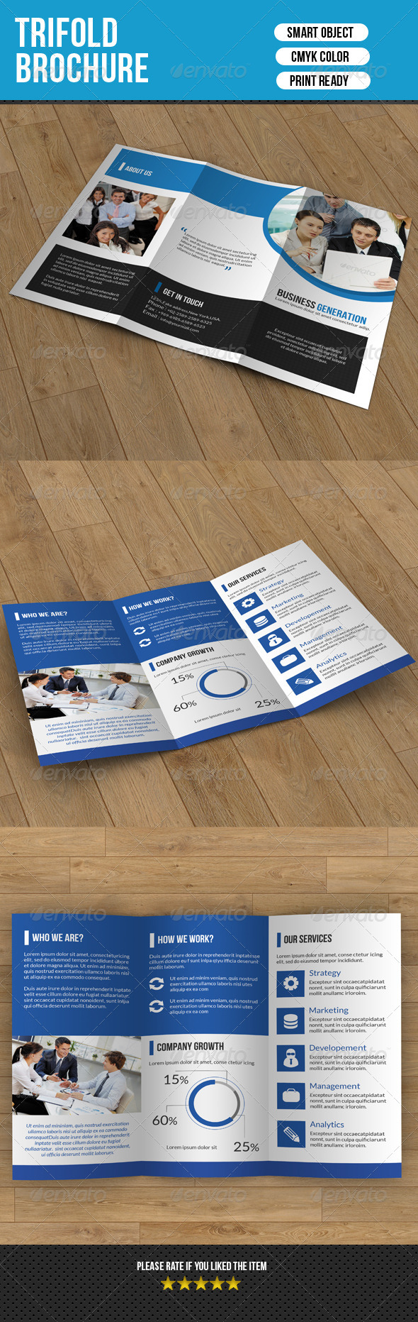 GraphicRiver Trifold Business Brochure-V37 8337604