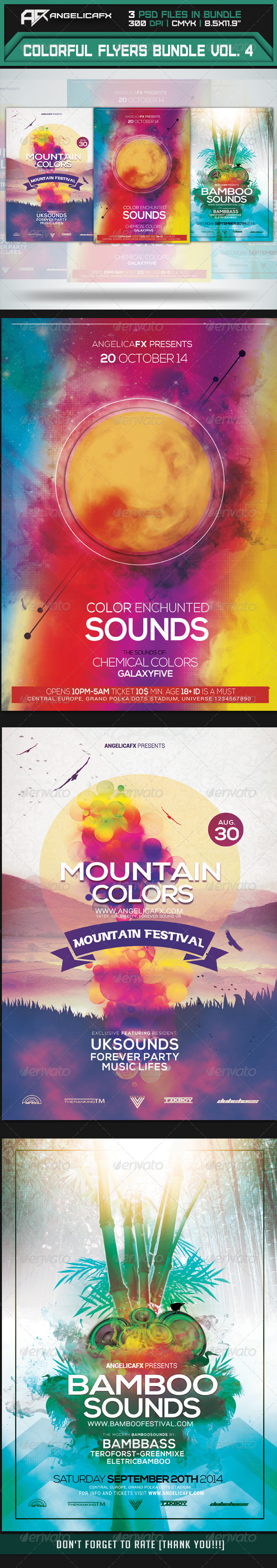 GraphicRiver Colorful Flyers Bundle Vol 4 8337689