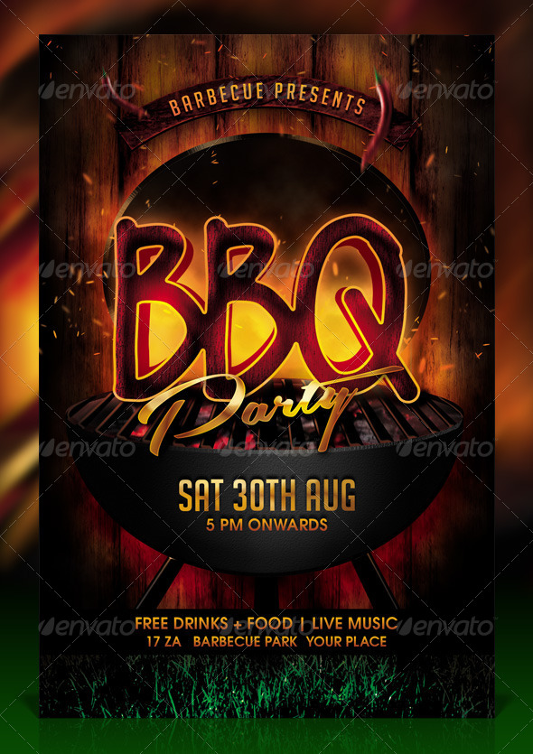 GraphicRiver BBQ Barbecue Party Flyer Template 8337820