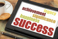 success concept on digital tablet - PhotoDune Item for Sale
