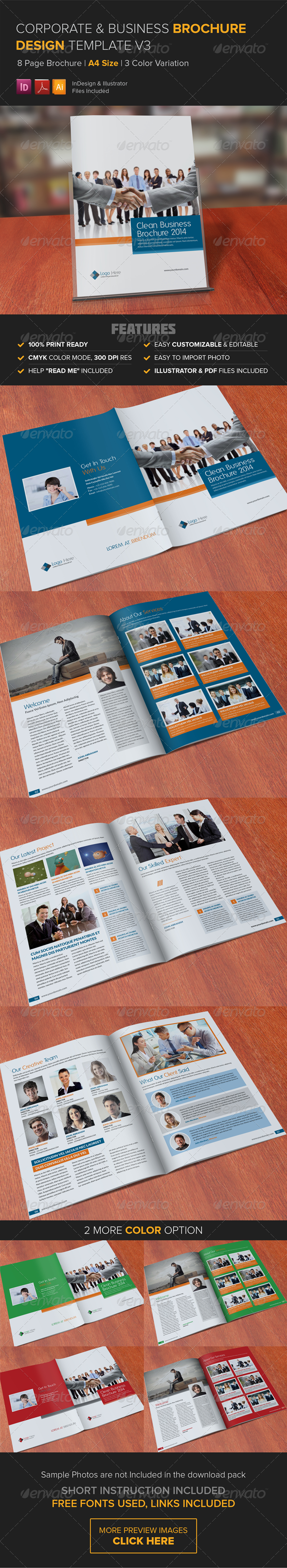 GraphicRiver Corporate Multipurpose Brochure Template v3 8338132