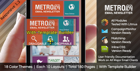 MetroLa-Metro Style Responsive Email With Builder - Email Templates Marketing