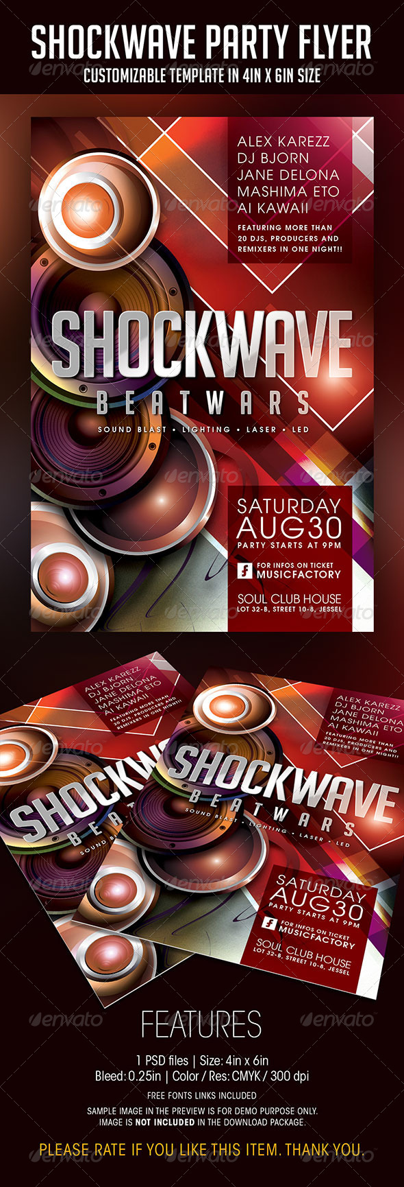 GraphicRiver Shockwave Party Flyer 8338201
