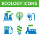Ecology Vector Icons Set