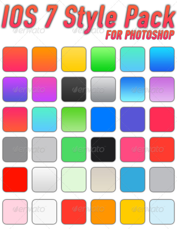 GraphicRiver Photoshop Flat Style Pack 8338589