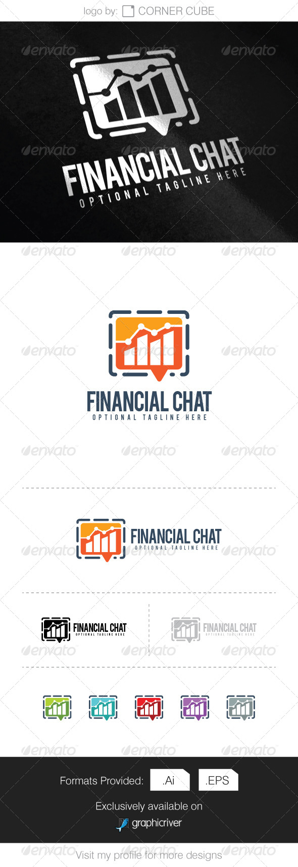 GraphicRiver Financial Chat Logo 8338618