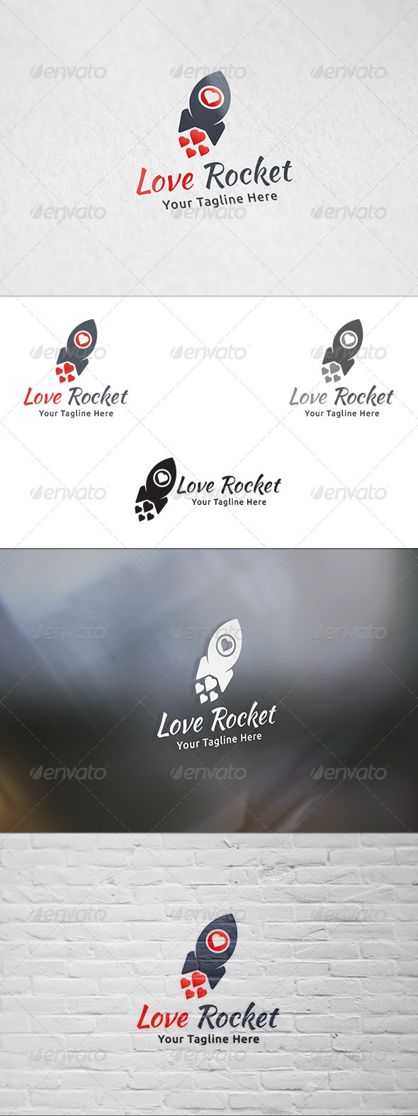 GraphicRiver Love Rocket Logo Template 8338711