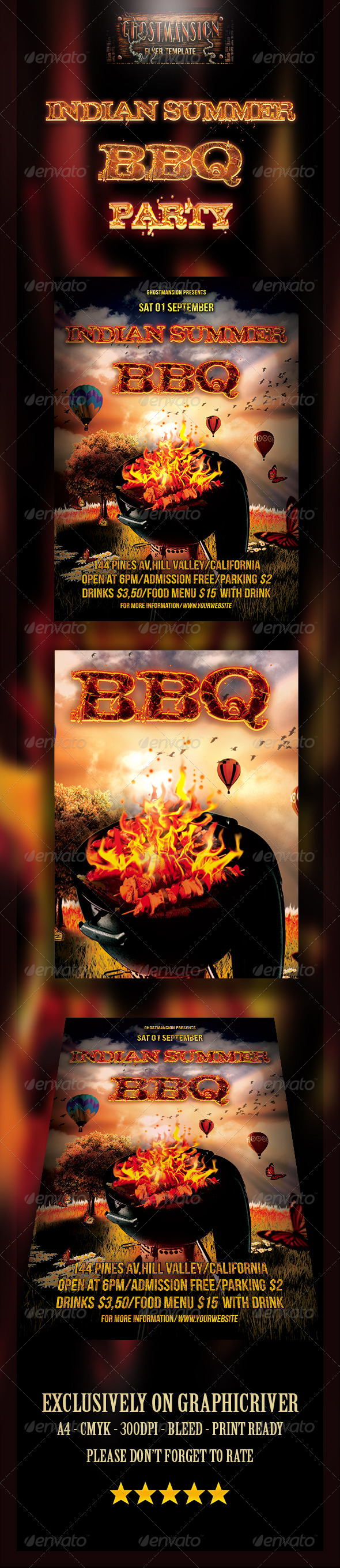 GraphicRiver Indian Summer BBQ Party 8338739