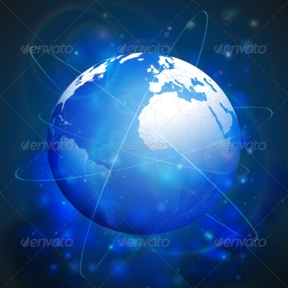GraphicRiver Globe Network Connections 8338772