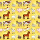 Funny Farm Animals with Background - GraphicRiver Item for Sale