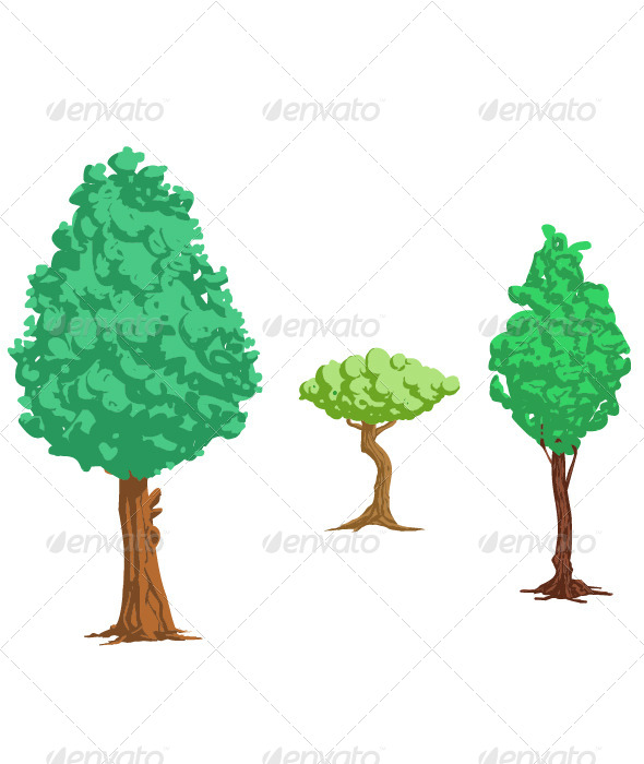 GraphicRiver Trees 8338786