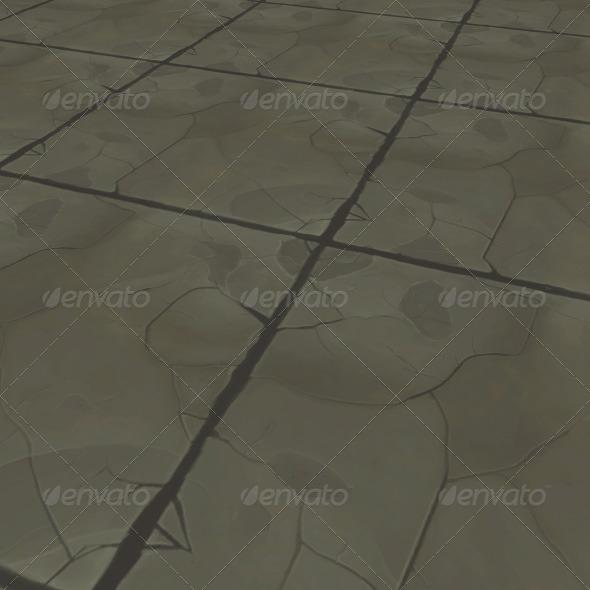 rocky tile - 3DOcean Item for Sale
