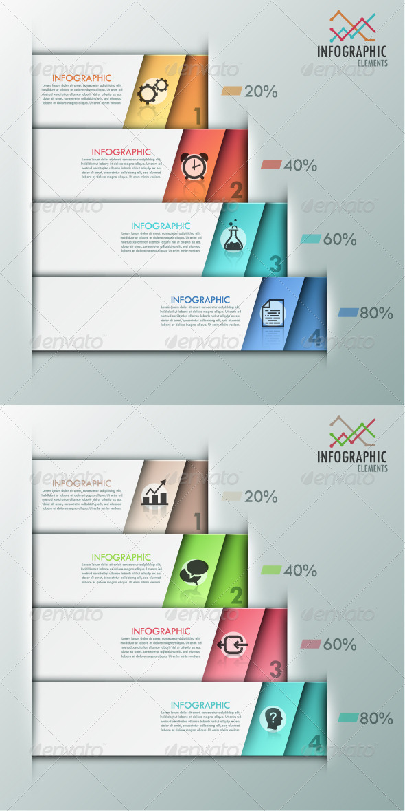Modern Infographics Options Banner 2 Versions
