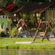 Loving Couple Ride On A Swing In The Park - VideoHive Item for Sale