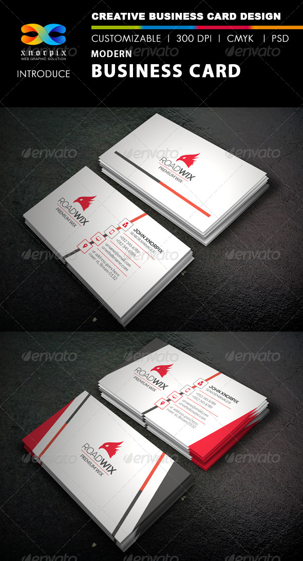 GraphicRiver Modern Business Card 8339091