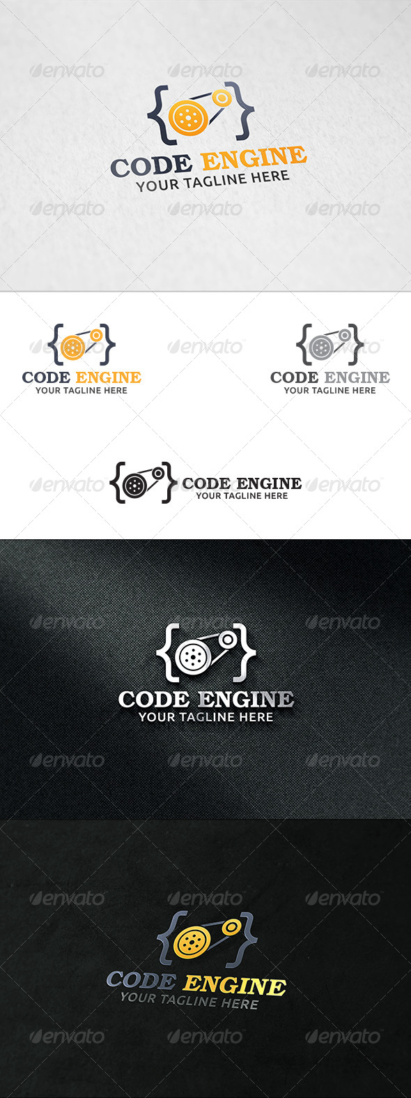GraphicRiver Code Engine V2 Logo Template 8339313