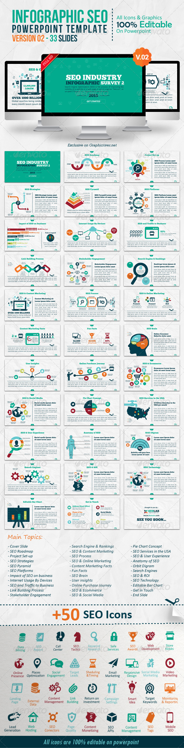 GraphicRiver Infographic SEO Powerpoint V.02 8339363