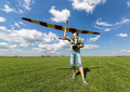 Man launches into the sky RC glider - PhotoDune Item for Sale