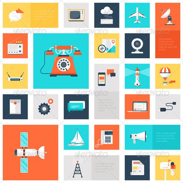 GraphicRiver Communication Icons 8339945