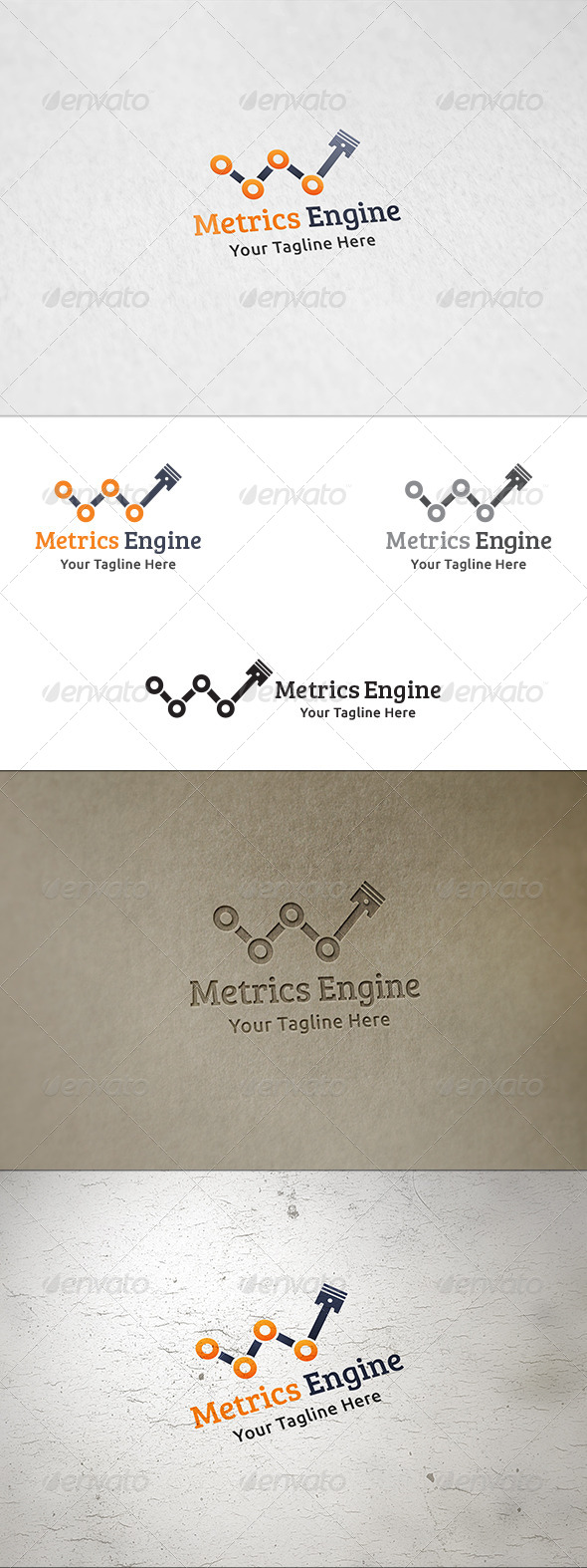GraphicRiver Metrics Engine Logo Template 8339972