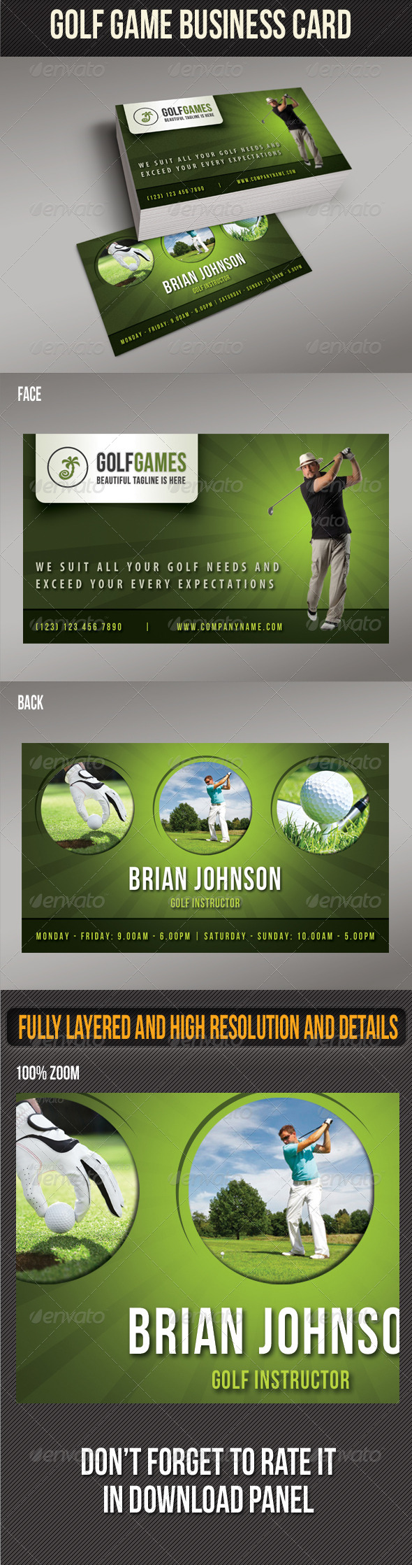 GraphicRiver Golf Game Business Card 01 8339977