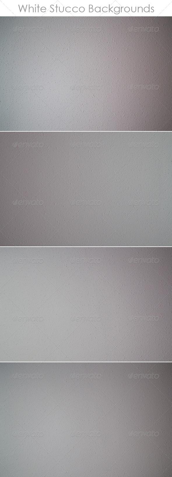 White Stucco Backgrounds - Concrete Textures