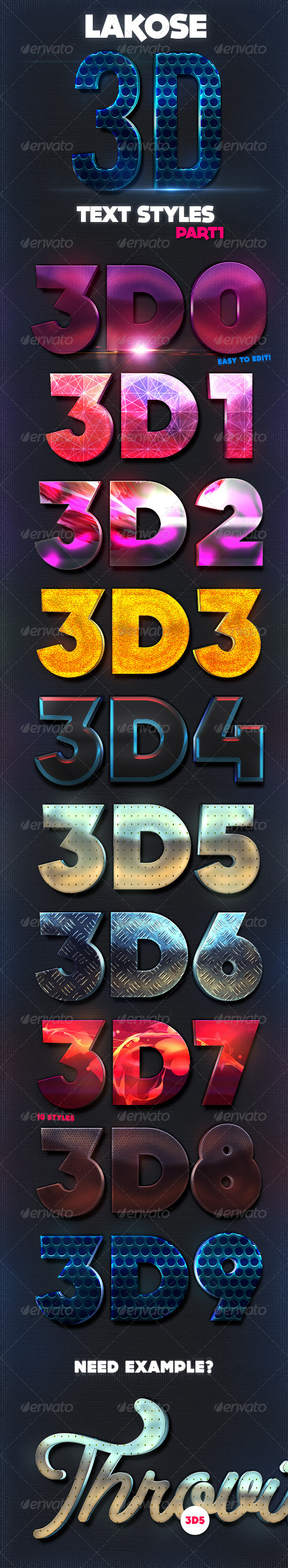 GraphicRiver Lakose 3D Text Styles Part 1 8296739