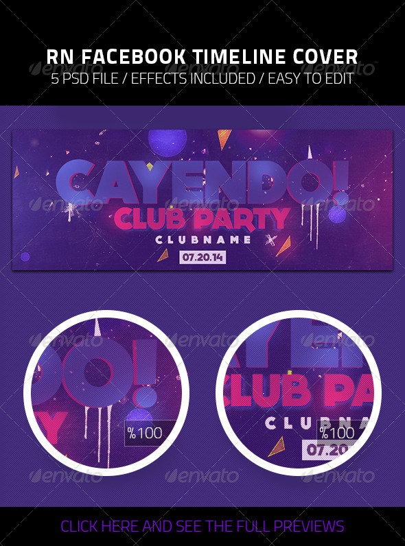 GraphicRiver Cayendo Club Party Facebook Timeline Cover 8340135