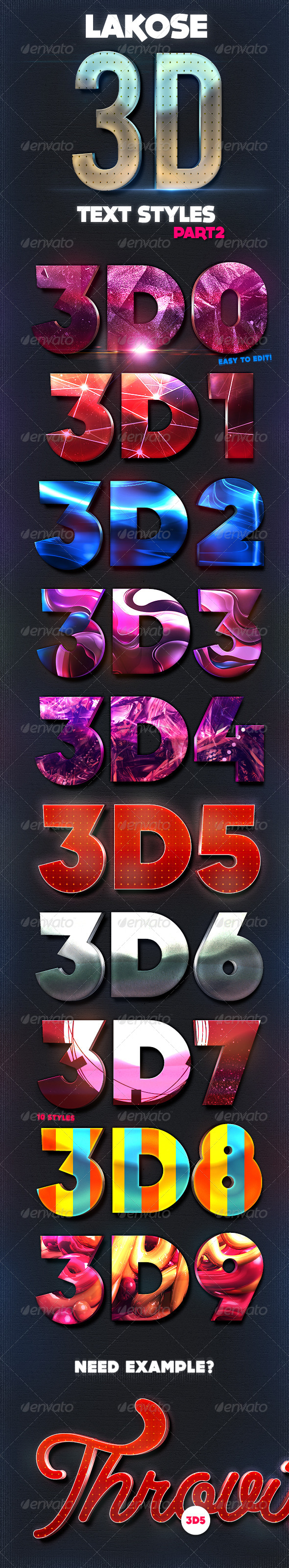 GraphicRiver Lakose 3D Text Styles Part 2 8340138
