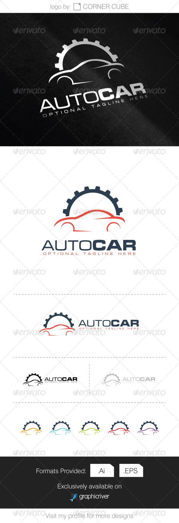 GraphicRiver Auto Car Logo 8340139