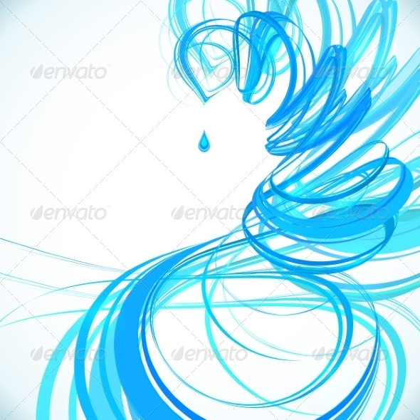 GraphicRiver Blue Abstract Spiral Background 8340183