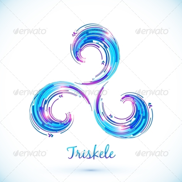GraphicRiver Blue Abstract Triskele Symbol 8340187