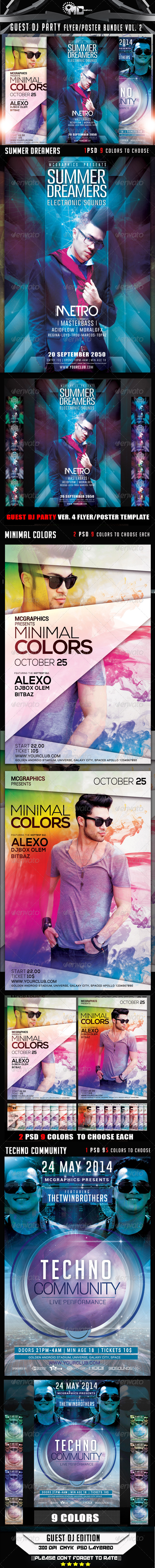GraphicRiver Guest DJ Party Flyer Poster Bundle Vol.2 8334736