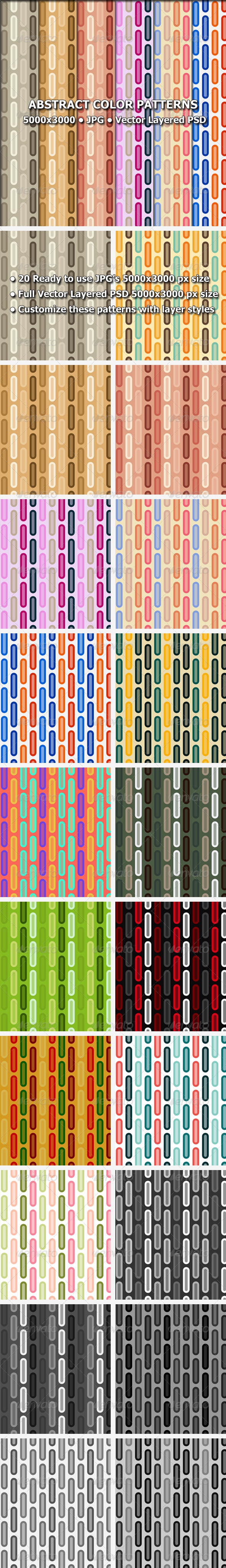 GraphicRiver Abstract Color Patterns 8340231