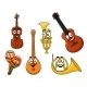 Set of Musical Instruments - GraphicRiver Item for Sale