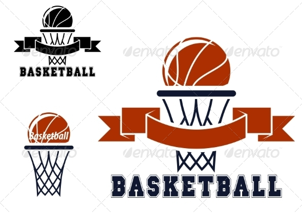 GraphicRiver Basketball Emblems and Symbols 8340252